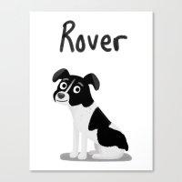 Custom Cute Dog Illustra… Canvas Print