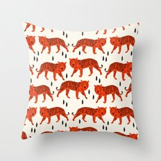 Tiger by Andrea Lauren Design Throw Pillow