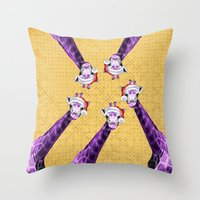 Tis The Season - Giraffe Throw Pillow