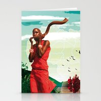 Poster Afryka! Stationery Cards