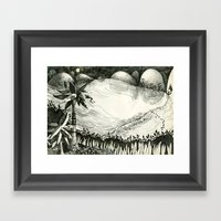 Moon Hunting Framed Art Print