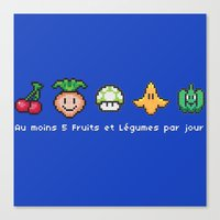 Geek Food Canvas Print