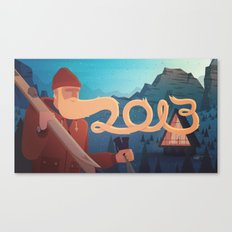 Golden Beard - 2013 Greetings Canvas Print