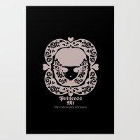 Black And White Girl Art Print