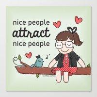 Nice People Canvas Print
