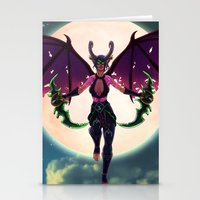 Demon Hunter Stationery Cards