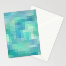 Re-Created Colored Squares No. 17 by Robert S. Lee Stationery Cards