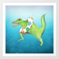 Swim Team Art Print