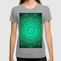 Mandala Womens Fitted Tee Tri-Grey SMALL