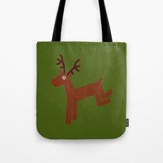 Reindeer-Green Tote Bag