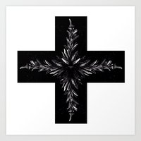 cross Art Prints featuring cross by Кaterina Кalinich