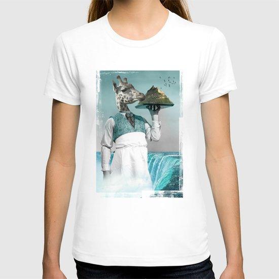 giraffe waiter with bombe alaska T-shirt