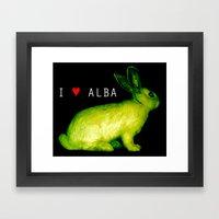 I LOVE ALBA Framed Art Print