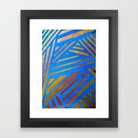Geometric Blue Framed Art Print