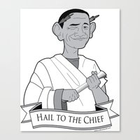 Hail the the Chief Canvas Print