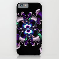 iPhone & iPod Case featuring Teal and Purple abstract fractal by Christy Leigh