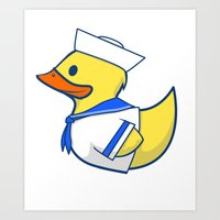 Sailor Duck Art Print