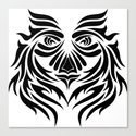 Tribal Art, Visage of Will - Solid Canvas Print
