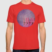 CLOTHESPINS Mens Fitted Tee Red SMALL