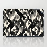Black Ikat Diamonds iPad Case