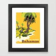 Bahamas Vintage Style Va… Framed Art Print
