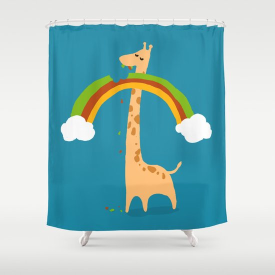 Taste of Happiness Rainbow Shower Curtain