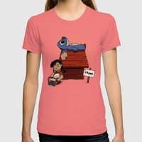 Lilo & Stitch Womens Fitted Tee Pomegranate SMALL
