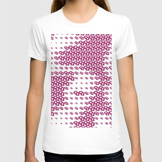 Pink Pebble Pattern T-shirt