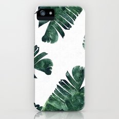 Banana Leaf Watercolor Pattern #society6 iPhone SE Slim Case
