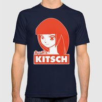 Kitsch Mens Fitted Tee Navy SMALL