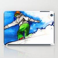 Snowboarder Girl iPad Case