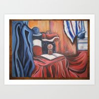 red,white and blue Art Print