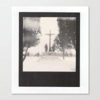 Frozen Cemetery... Canvas Print