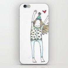 Happy Girl iPhone & iPod Skin