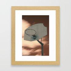Shooting hoops on Mars Framed Art Print