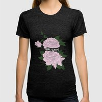 Girl Gang Illustration Womens Fitted Tee Tri-Black SMALL