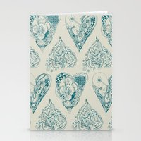 Blue And Beige Tangled H… Stationery Cards