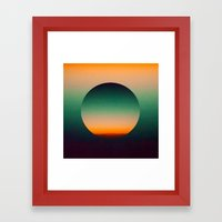 Green Gradient  Framed Art Print