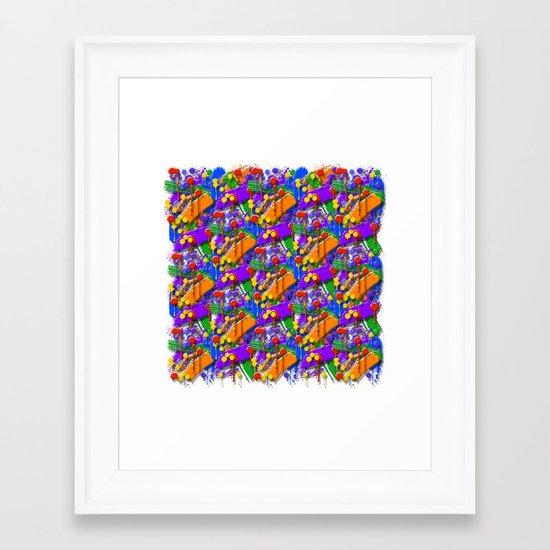 The Big O (Drip Porn Pattern) Framed Art Print