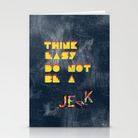 Think easy. Stationery Cards