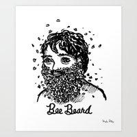 Bee Beard Art Print