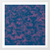 Isometric Grid No. 1  Art Print