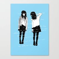 Grady Twins Canvas Print