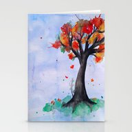 Stationery Cards featuring Autumn Begins by DuckyB (Brandi)