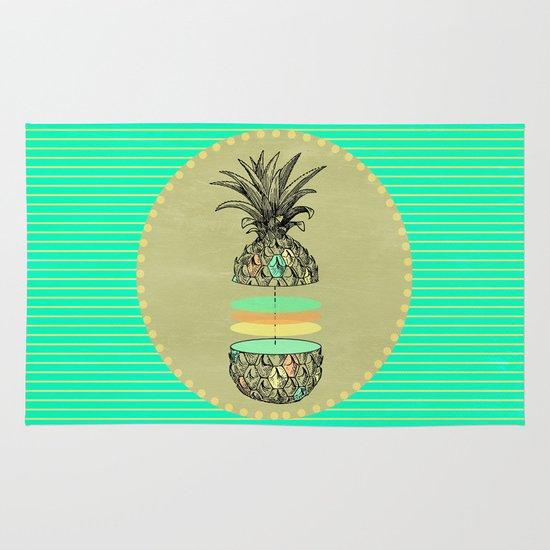 Sliced pineapple Area & Throw Rug