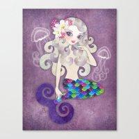Amethyste Mermaid Canvas Print