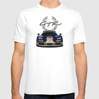 1995 McLaren F1 GTR Le Mans - Gulf Livery Mens Fitted Tee White SMALL