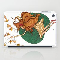 Girl and fish iPad Case