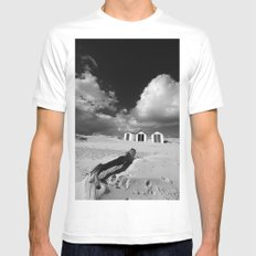 Southwold Beach huts Mens Fitted Tee White SMALL