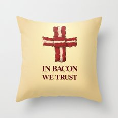 Baconicism Promo Throw Pillow